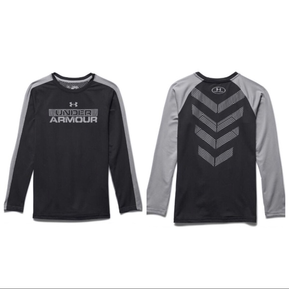 66 Off Under Armour Shirts Tops Boys Youth Black Loose Cold Gear